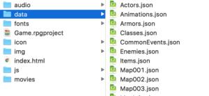 Map001がプロジェクトに追加された